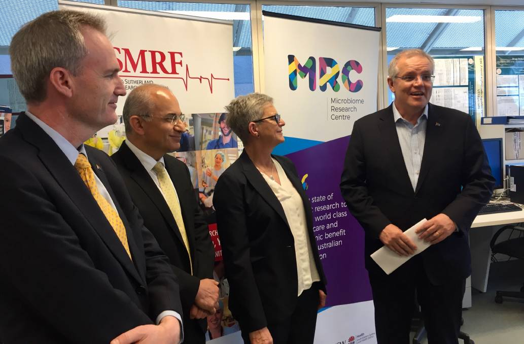 Prime Minister Scott Morrison doubles funding for St George and Sutherland Medical Research Foundation's Microbiome Research Centre